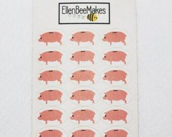 Mini Piggy Bank Stickers