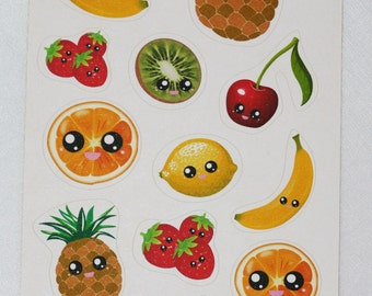 Kawaii Fruit Stickers