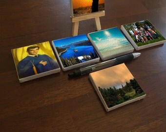 """Tiny """"Baby"""" Canvases with Custom Images and Easel!"""
