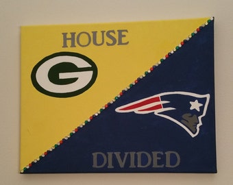 NFL Football House Divided