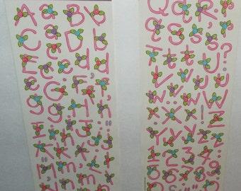 Miss Elizabeths Flower Girl Alphabet Sticker Sheet Double Sided Acid Free Lignin Free