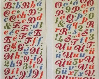 Miss Elizabeths Spanish Clear Alphabet Sticker Sheet Double Sided Acid Free Lignin Free El Alfabeto Espanol