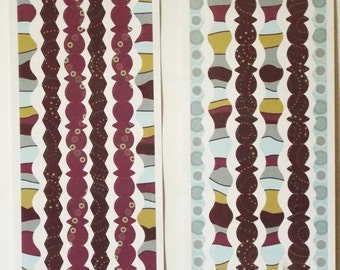 Miss Elizabeths Decorative Edge Borders Sticker Sheet Double Sided Acid Free Lignin Free NEW
