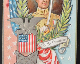 Decoration Day Postcard Comrade Embossed Memorial Day Patriotic Postcard