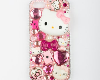 Cute kawaii pink decoden iPhone 5 phone case