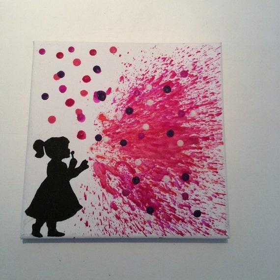Silhouette Of Little Girl Blowing Bubbles | www.pixshark ...