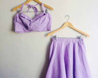 SALE-Dottie Playsuit in Lavender in Medium