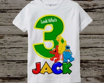 Sesame Street Birthday Shirt - Boy's Sesame Street Shirt - Long Sleeve Available