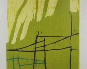 Green - linocut