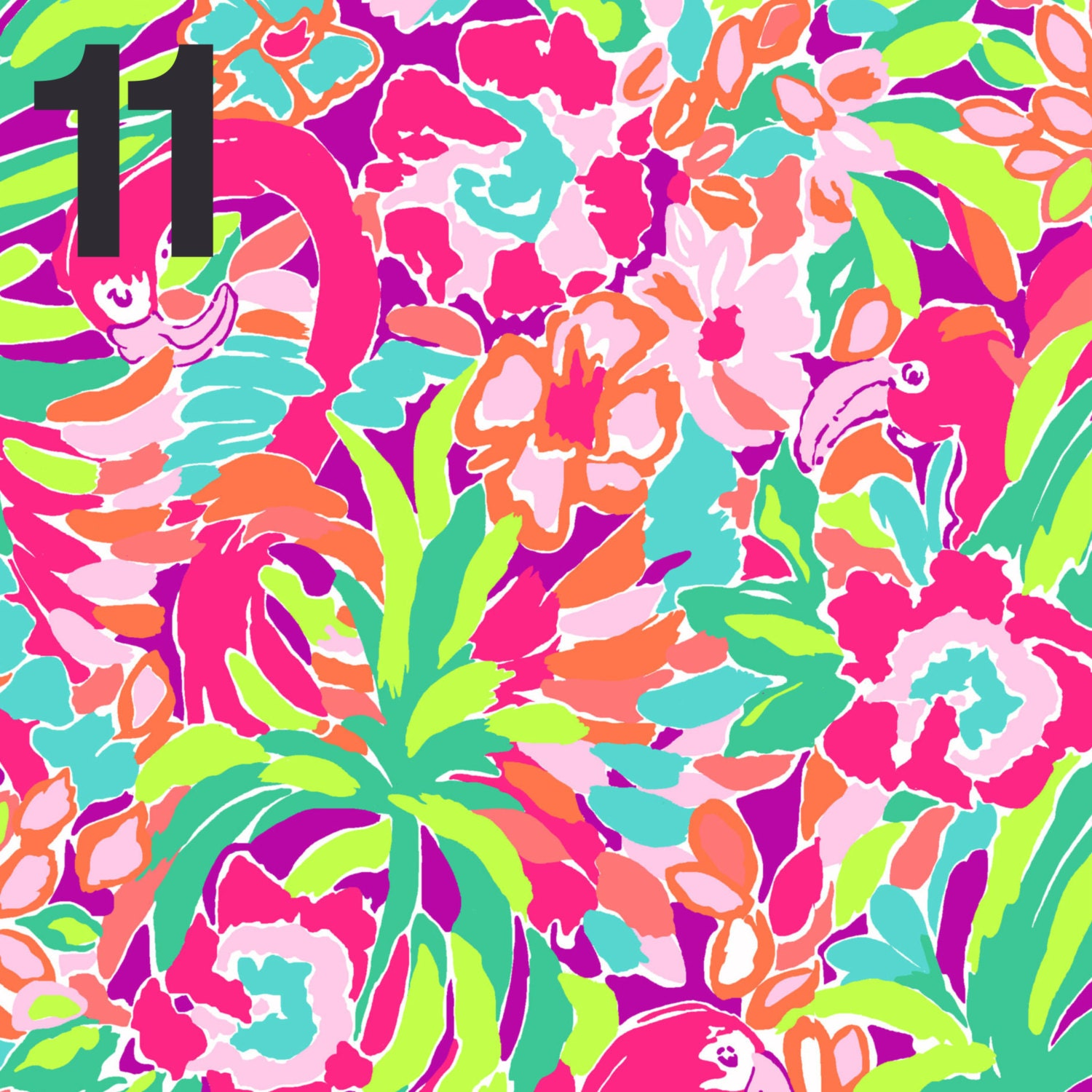 Lilly Pulitzer Outdoor Printed Vinyl Sheet By Belangersigns