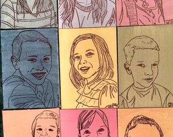 Custom Portrait Line Drawing
