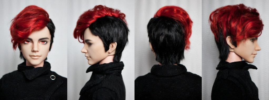 Custom Short Undercut Angora Wig For BJD Style C In Custom
