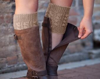 Knit Boot Cuffs Brown by Modern Boho