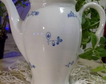 vintage richard ginori teapot  AL TRICOLORE TORINO about 1910. brand rare,