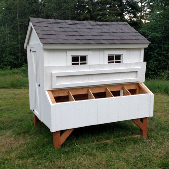 Easy Diy 4 X6 Chicken Coop Hen House Plans Pdf: PDF File Instant Download From