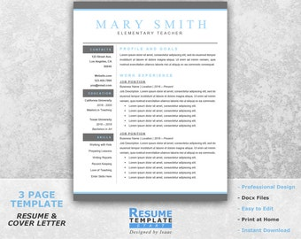 teacher resume template word professional resume template for word teaching resume template cover - Teaching Resume Format