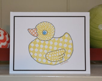 Zentangle Duck Notecard - Package of 10