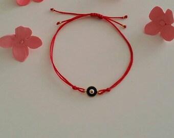 Evil Eye Bracelet, Turkish Nazar Bracelet, Tiny Bracelet, Friendship Bracelet, Charm Bracelet, Minimal Bracelet, String Bracelet, Bracelet
