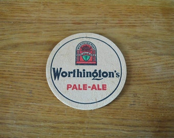 Worthington's Pale Ale & Stout Beer Mat. Vintage Worthington Beermat.