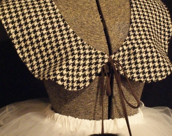 Wool Houndstooth Shawl-Ready to Ship