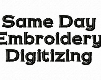 Same Day Embroidery Digitizing