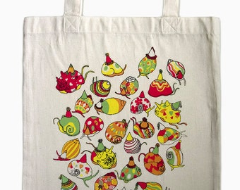 Party Snails, Tote Bag