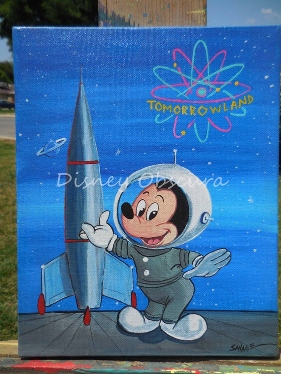 Mickey Mouse and the Rocket To The Moon Tomorrowland Retro