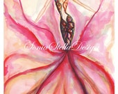 Original Fashion illustration watercolor art only one! No copies or prints