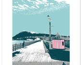 Bray 4 colour screenprint