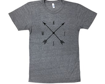 Arrow Compass T-Shirt - Mens American Apparel Shirt - Available in sizes S, M, L, XL