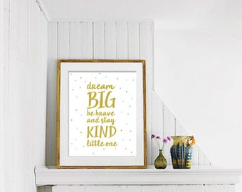 Dream Big Nursery PRINTABLE, Nursery Wall Art, Nursery Print, Nursery Digital Poster, Printable Art, Nursery Printable, Nursery Wall Art 36