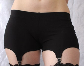 Garter Shorts - Comfy Cotton Garter Belt Alternative - Ready to Ship
