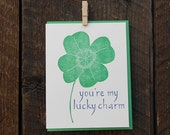 You're My Lucky Charm Letterpress Card