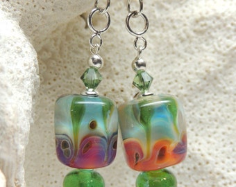 EVEYS GARDEN Handmade Lampwork Dangle Earrings