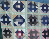 Antique QUILT Top Churn Dash Pattern