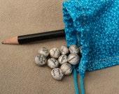 Winter Runes - Mini Futhorc Rune Stones - Hand Made Miniature Futhark Rune Stone Set and Cloth Pouch