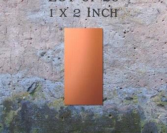 "Copper Blanks Jewelry Findings Pendants or Earring Blanks Lot of 20 (1"" x 2"") 16oz. 22 Gauge Solid Copper"