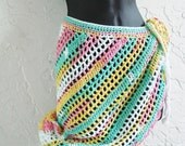 hand crochet cover up beach sarong capelet hipster wrap shawl