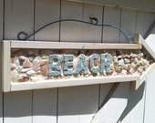 Mosaic Seashell Beach Sign
