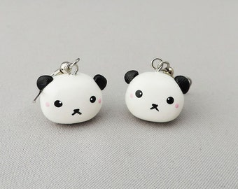 Kawaii Panda Earrings Polymer Clay