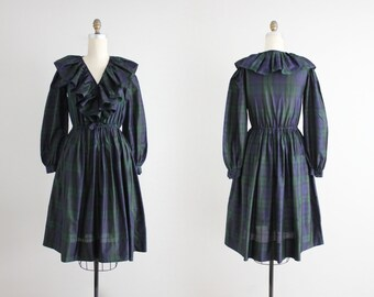 ritu kumar dress / plaid silk dress / judith ann dress