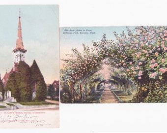2 Vintage Postcards of Tacoma Washington circa 1907