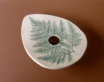 VASE with fern impression