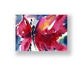 Butterfly Joy No. 3 ... Original abstract watercolor aceo art ooak painting by Kathy Morton Stanion  EBSQ