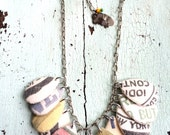 Grain Sack Textile Necklace