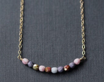 prisma – multicolor beaded necklace