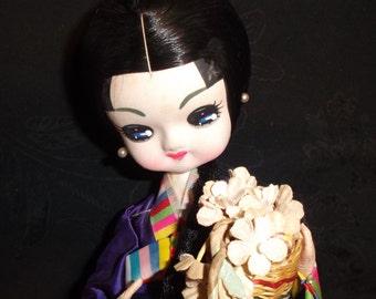 Vintage Japanese Sitting Doll