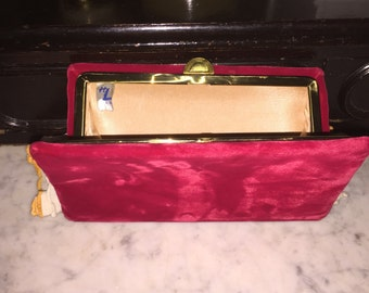 Vintage Harry Levine Red Velvet Purse