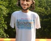 vintage 90s t-shirt mount san antonio college CROSS country invitational running cartoon tee Large california