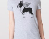 Flying Boston Terrier Womens T-Shirt Small, Medium, Large, XL in 7 Colors
